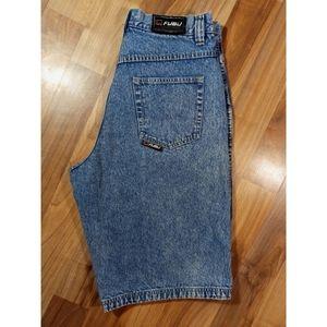 FUBU relaxed fit denim jean shorts